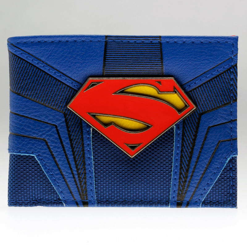 Superman  PU Bifold Wallet  DFT-1855 mens batman logo badge bifold wallet dft 1327