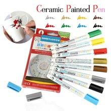 8 цветов 1,0 мм ручка для рисования керамическая Кисть ручка ручная роспись креативный Сделай сам стеклянный маркер для рисования Ручка запеченная кружка живопись