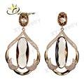 Preços por atacado moda jóias de bronze brincos de vidro, brincos preço de fábrica para o mercado brasil XYS100204-E