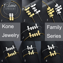 UZone Brand Stainless Steel Charm Bracelets Bangles For Family Women Men Dad Daughter Son Gold Color Jewelry Drop Shipping