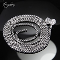 Thomas Blackened Necklace Fit Karma Bead, European Style Fine Jewelry for Women and Men TS-N002