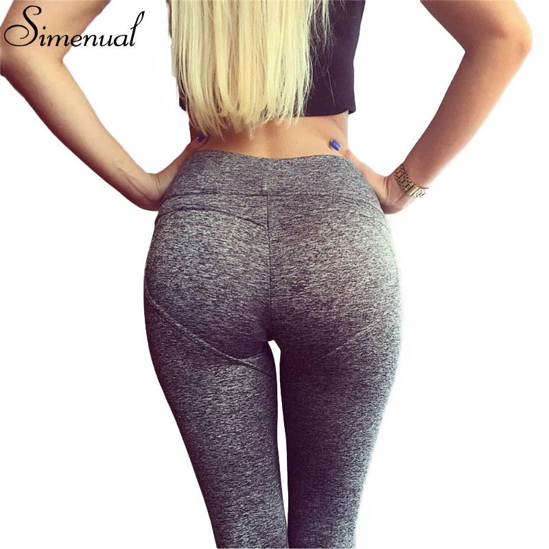 68a40414757 Push up heart pattern athleisure leggings for women 2017 spring slim sexy  fitness legging female pants harajuku elastic jeggings-in Leggings from  Women s ...