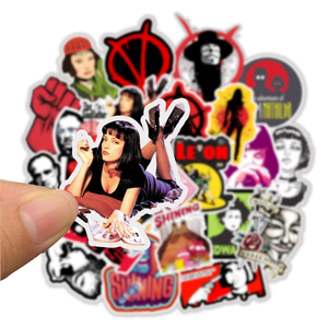 Image 3 - 50pcs Classic Movie stickers For Luggage Laptop Art Painting Kill Bill Pulp Fiction Poster Stickers waterproof skateboard toy