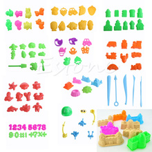 3 11Pcs Lot Sand Toy Model Building Kits Play Dough Plasticine Mold Tools Set Kids Playdough