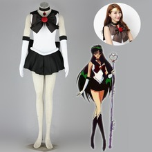 цена на Athemis Anime Sailor Moon Setsuna Meiou / Sailor Pluto Cosplay Costume custom made Dress High Quality