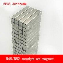 5PCS/lot 36*6*6mm N45 N52 neodymium magnet strip magnets