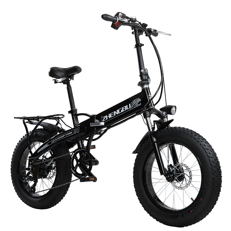 48V 10Ah Lithium battery,350W Powerful Motor,  20″ 4.0 Width Tire Snow Bike, Folding Electric Bike,Fat Bike,MTB Mountain Bicycle