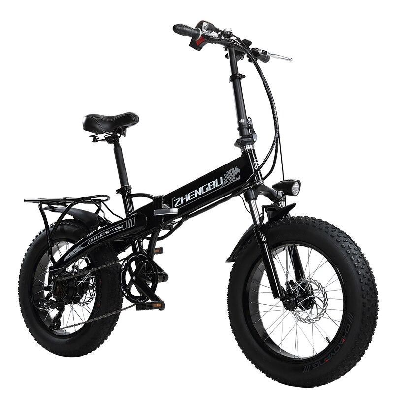 Bateria De Lítio 48 V 10Ah, Motor Potente 350 W, 20 4.0 Largura Do Pneu Bicicleta Da Neve, bicicleta Elétrica de dobramento, Bicicleta Gordura, MTB Montanha de Bicicleta