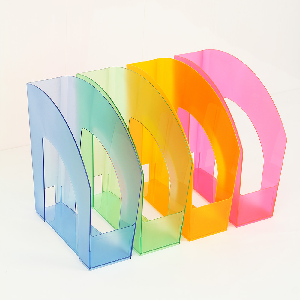 A4 Translucent Plastic File Holder Vertical Desktop Storage Rack Magazine  Rack Box Newspaper Rack File Columnin File Folder From Office & School  Supplies