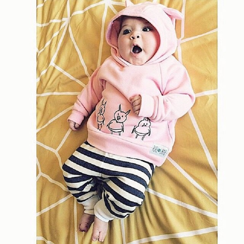 Pigs-Baby-Girls-Kids-Sweatshirt-TopsStriped-Pants-2pcs-Outfits-Tracksuit-Set-Pink-Spring-Autumn-Hoodies-3