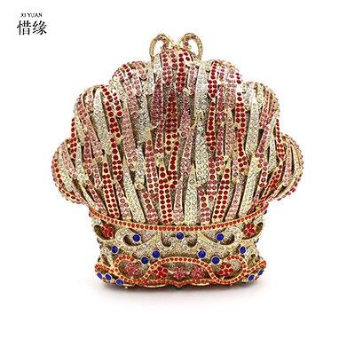 Marque Dames En Sacs Embrayage Cristal Sac Luxe Xiyuan Main De Strass Mariage Bling Femmes Soirée Classique Verre Diamant Or À qxw45S5d