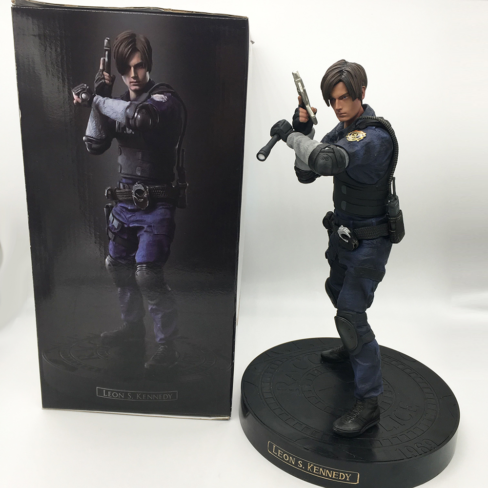 Game Character Leon Scott Kennedy Figure Collectable Action Figure Model Toy