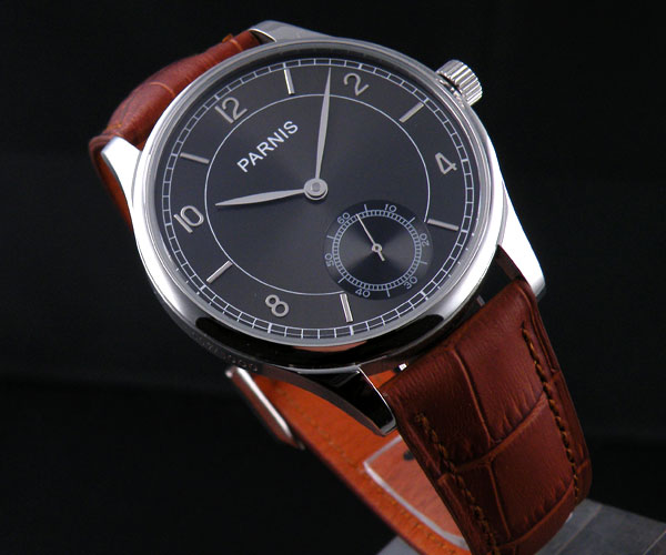 44mm parnis Black Dial silver Hands 17 jewels 6498 Movement Hands Wind Mechanical men's Watch alexander nevzorov my bam dusse alin 1980 1982 isbn 9785449038470