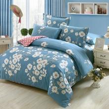 Fresh Flowers White blue twin full Queen King Size Bedding Sets Egyptian Cotton Bedlinens Duvet Cover Flat Sheet Pillow Cases