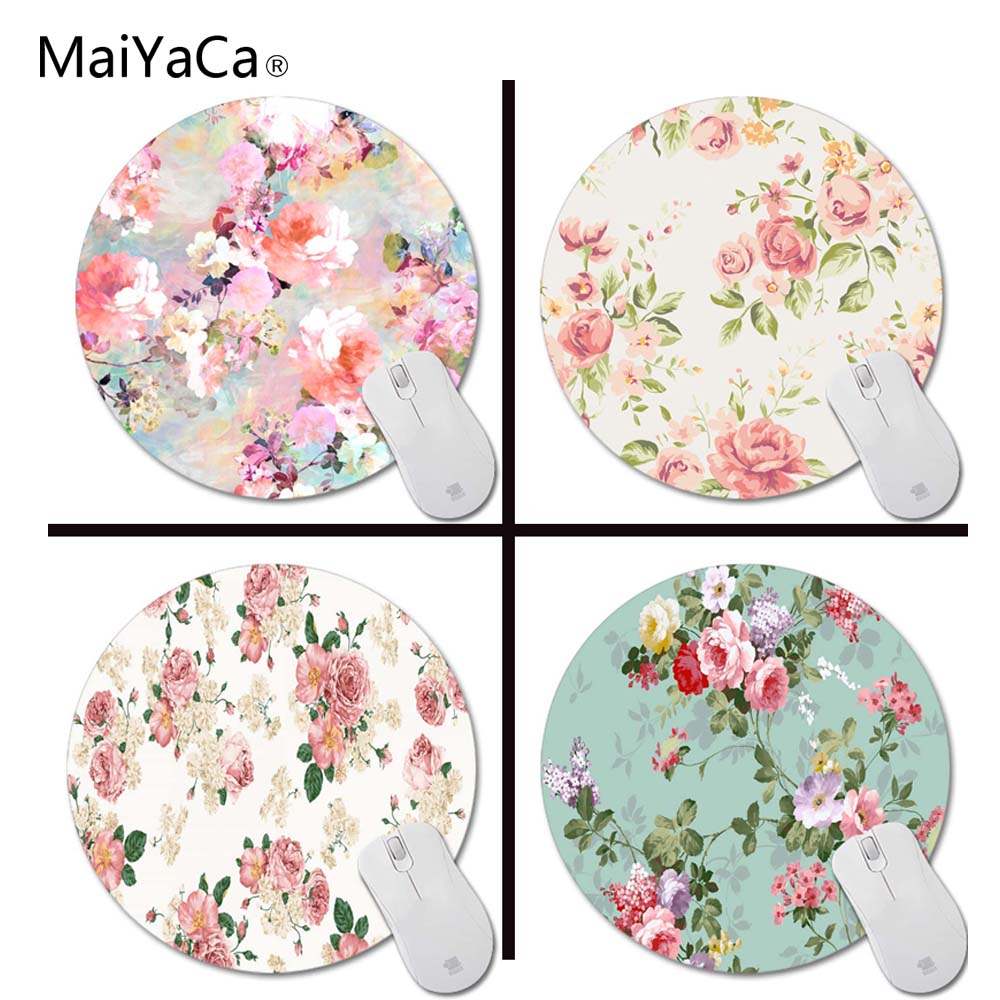 MaiYaCa love of a flower prints Mouse Pad Small Size Round Gaming Non-Skid Rubber Pad beautiful design non slip rubber gaming oblong mouse pad