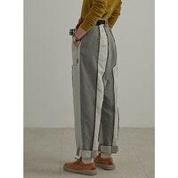 Новое поступление 2018 оригинальный дизайн Лоскутные повседневные штаны женские джинсы