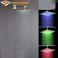 Wholesale And Retail LED Color Changing Rain Shower Head W Shower Arm Wall Mounted Shower Sprayer
