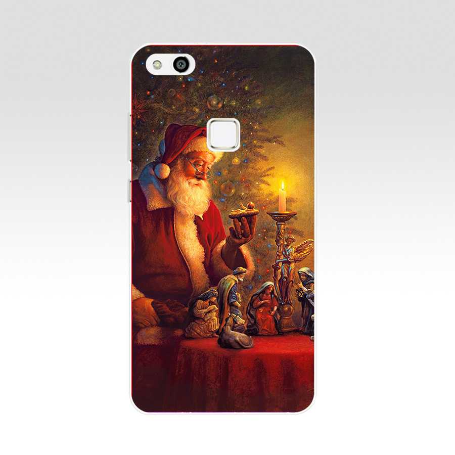 Happy Holidays Christmas For Huawei P10 Lite Case Cover Soft Silicone TPU Cover Back Protective For P10 Lite Case