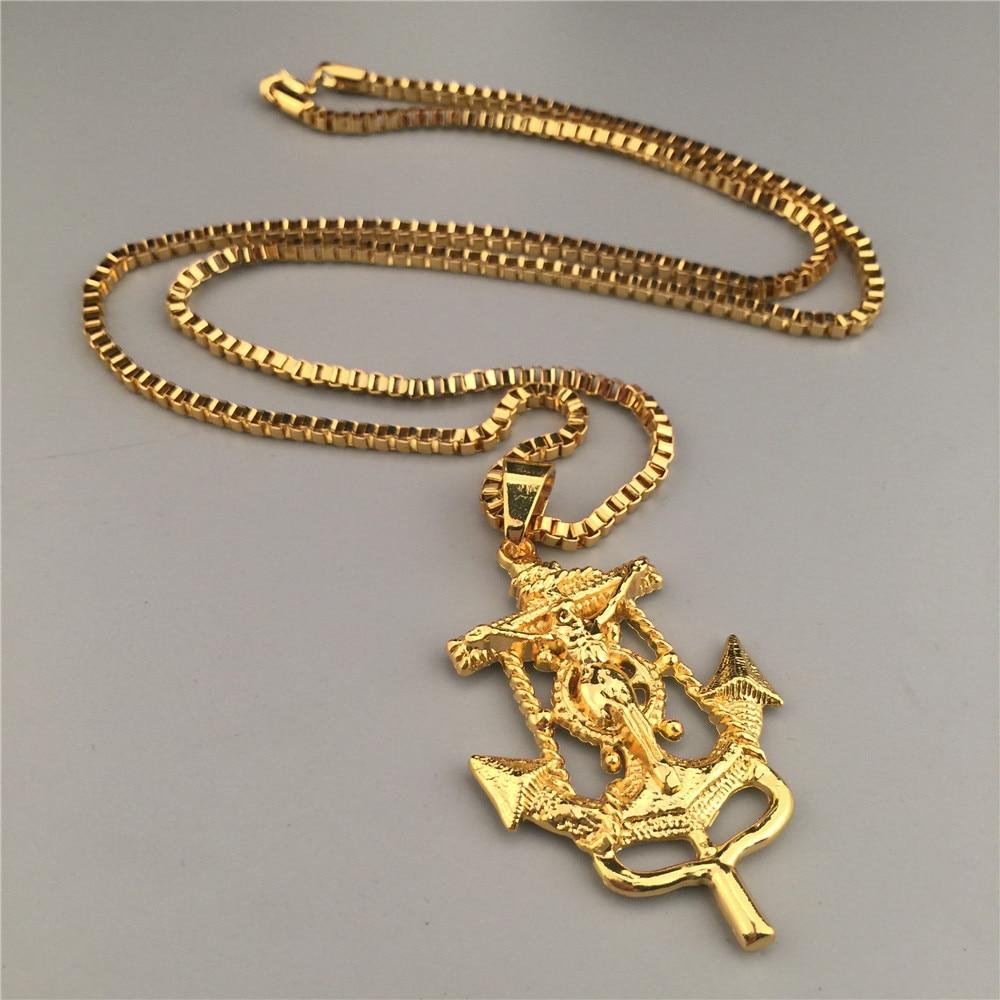 Trendy New Style Jesus Piece Charm Anchor Pendant Necklace Hip Hop