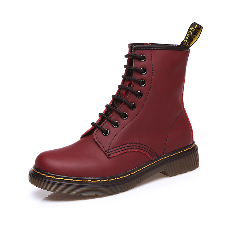 Autumn Winter Women Shoes Genuine Leather Ankle Boots New Fashion Woman Martin Boots High Quality Women Boots Plus Size 35 44 in Ankle Boots from Shoes