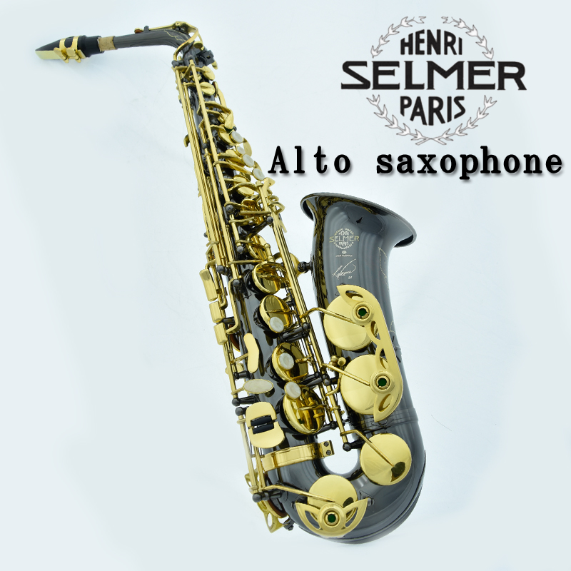 Hot selling France Henri Selmer 54 saxophone altoBlack NickelGold Musical Instruments saxofone gold professional sax & Hard boxs france henri selmer bb tenor saxophone instruments reference 36 drop b saxophone surface gold lacquer pink body professional sax