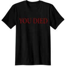 dark souls Gaming T Shirts video game Men Tees T-Shirts souls you died Novelty funny Casual from software dark souls 3 T-Shirts(China)