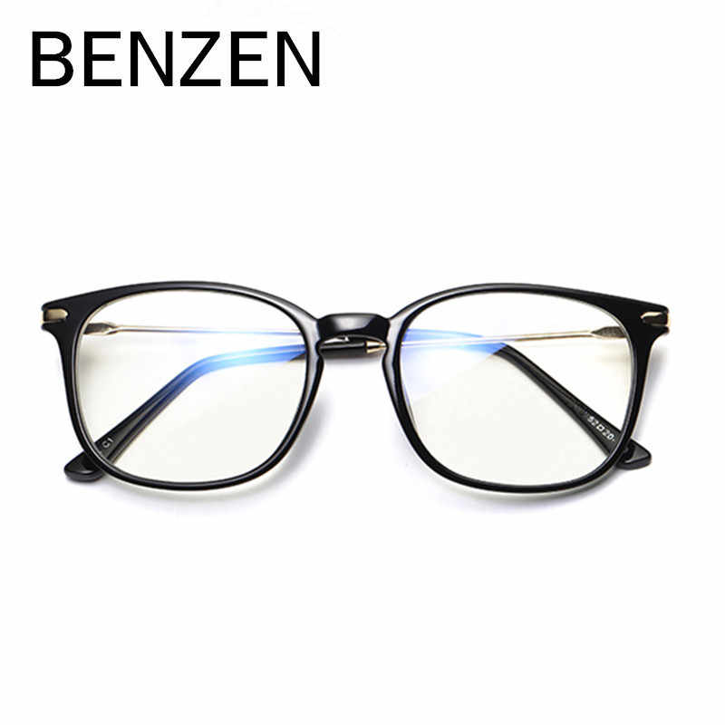 BENZEN Anti Blue Rays Reading Glasses Computer Goggles Eyeglasses Frame Women Spectacle Men Myopia Glasses Frame With Case 5077