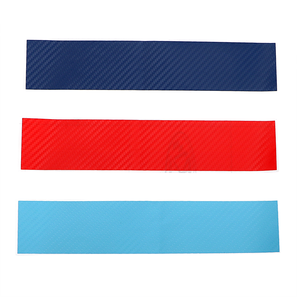 3pcs/set Carbon Fiber front Grill Stripes decals Car-styling Car Stickers Decals For BMW M3 M5 M6 E46 E39 E60 E90