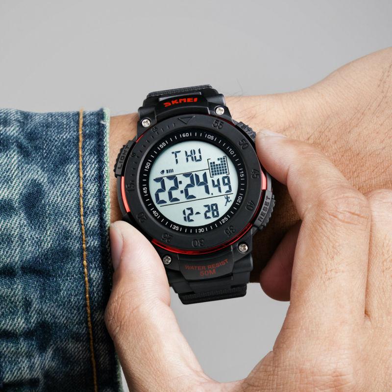 SKMEI Marca Reloj Digital Hombres Podómetro 3D Relojes Deportivos - Relojes para hombres - foto 6