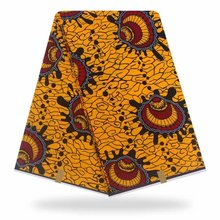 high quality Yellow pagne Ankara wax african prints fabric for African clothing YBGHL-363-2