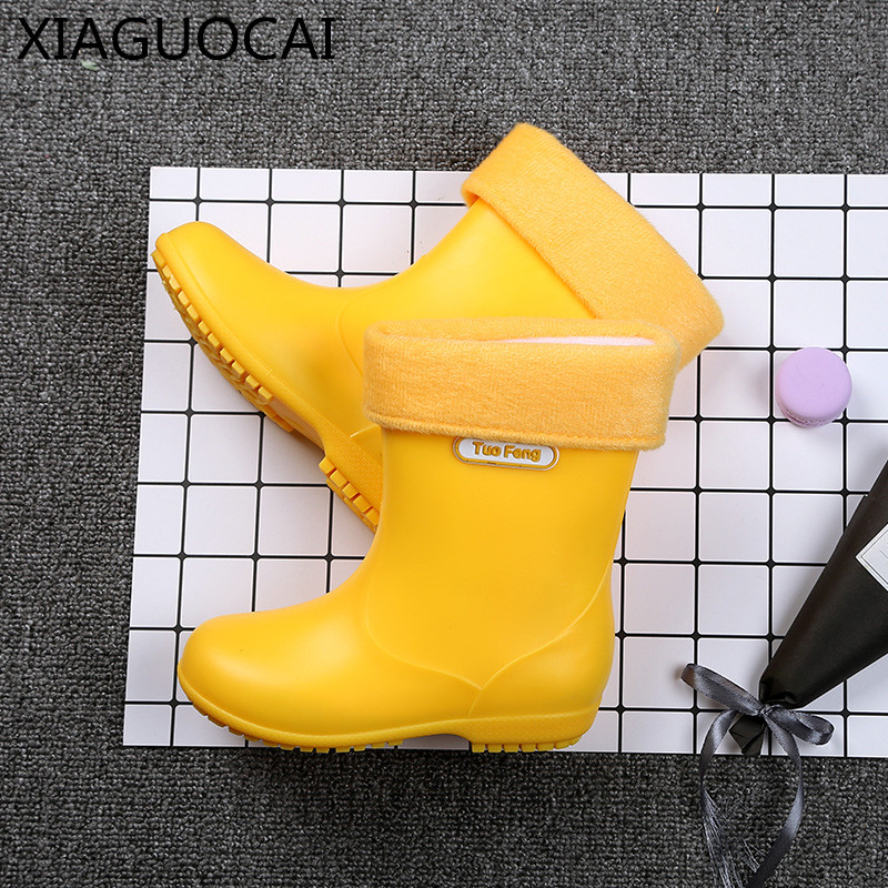 2018 New arrival Baby Waterproof Rain Boots Non-slip yellow/blue/pink Girls Boys shoes PVC Rubber lovely boots for kids B26 10 500pcs 3 5mm x 1 3mm dc socket jack female pcb charger power plug soldering