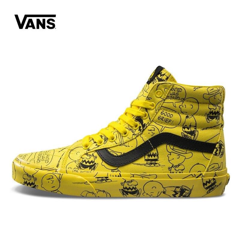 Original New Arrival VANS X PEANUTS Men's & Women's Classic SK8-HI Skateboarding Shoes Sport Outdoor Sneakers Canvas VN0A2XSBQX4 original new arrival vans x peanuts men s