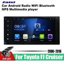 ZaiXi Android Car GPS Multimedia Player For Toyota FJ Cruiser 2006~2018 car Navigation radio Video Audio Bluetooth