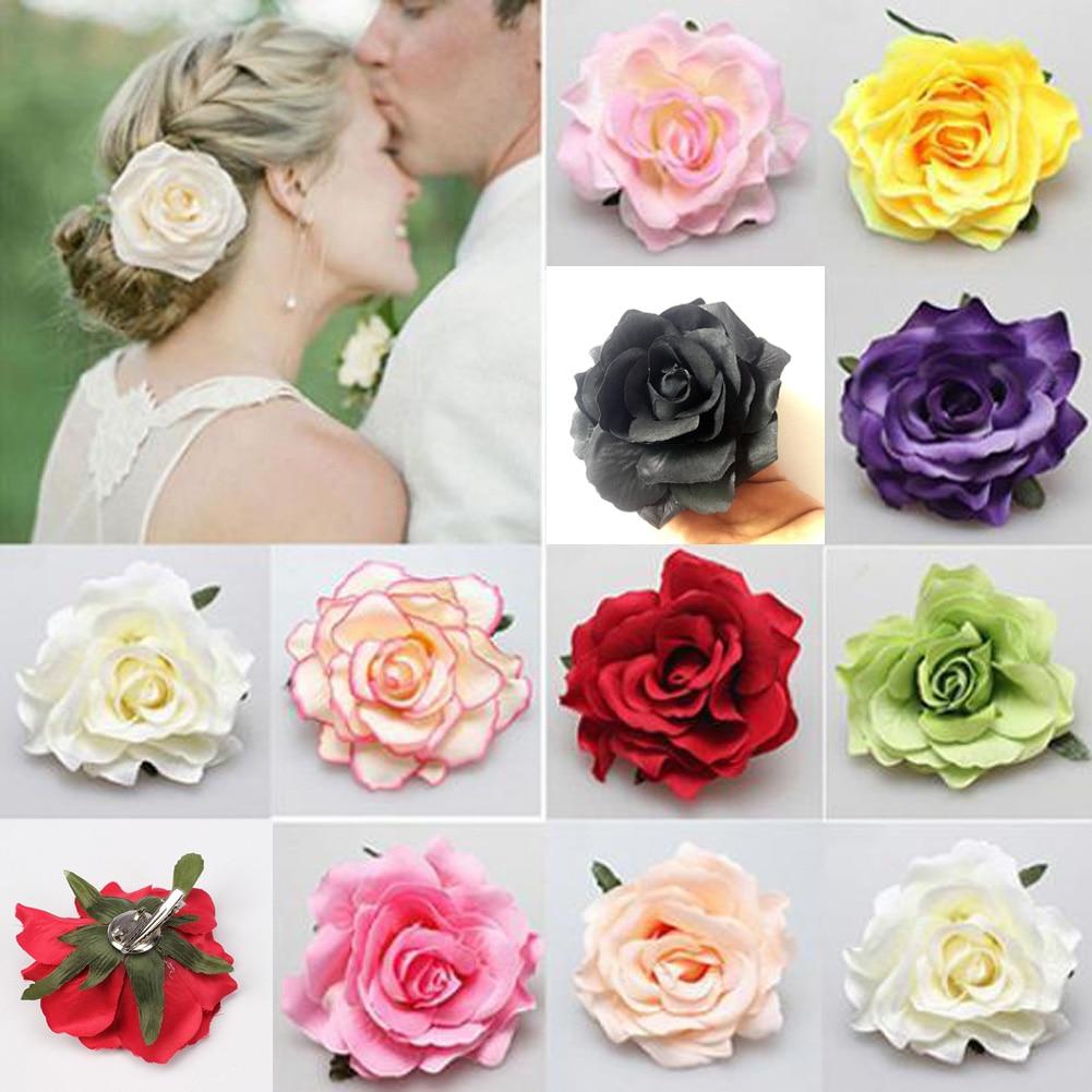 New Headdress Flocking Cloth Red Rose Flower Hair Clip Hairpin DIY   Headwear   Hair Accessories for Bridal Wedding