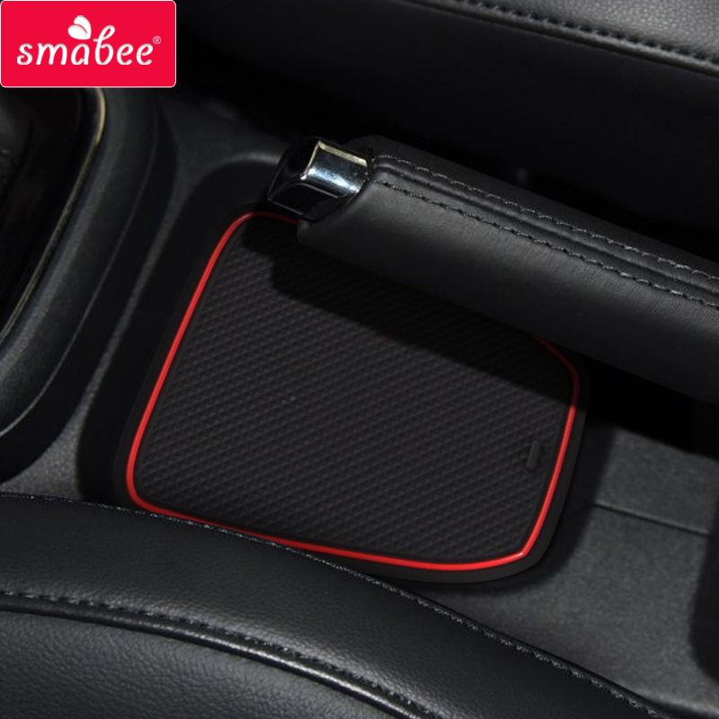smabee Gate slot pad for VOLKSWAGON VENTO font b Interior b font Accessories Mat Cup Door