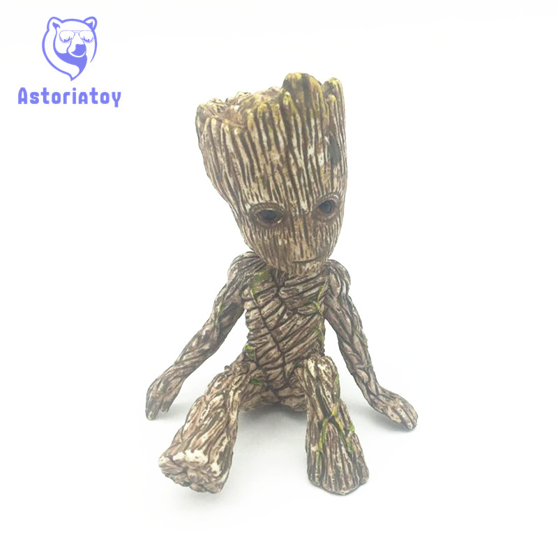 kawaii 6CM anime figure Guardians of the Galaxy 2 tree man baby sitting ver action figure collectible model toys brinquedos 2016 new arrival the guardians galaxy mini dancing tree man action figure model toy doll
