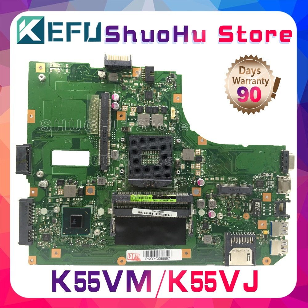 KEFU For ASUS K55VM K55VJ K55V R500V REV.2.0/2.1/2.2/2.3 GT630M/GT635/2G Laptop Motherboard Tested 100% Work Original Mainboard
