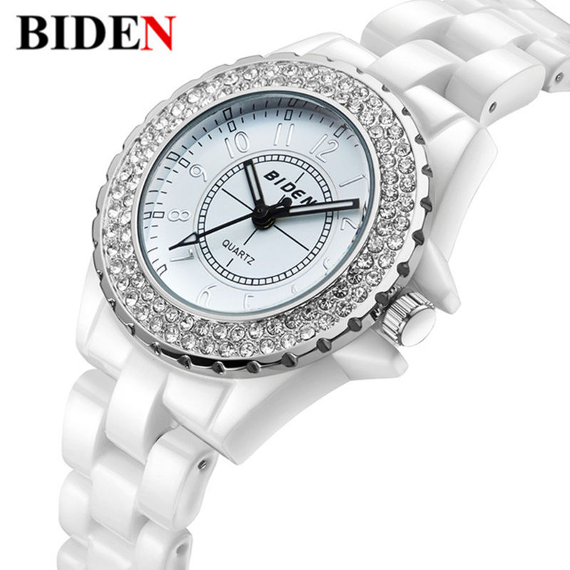 font b Watch b font Women BIDEN brand luxury Fashion Casual quartz ceramic font b