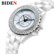 Reloj de Las Mujeres BIDEN marca de Moda de lujo de cuarzo Ocasional relojes de cerámica de Señora relojes mujer relojes de las mujeres Vestido de La Muchacha clock7242S