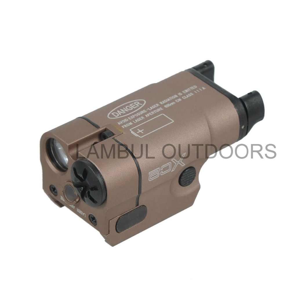 XC2-linterna de pistola compacta, ultraligera, Láser de punto rojo, táctica, MINI luz blanca, 200 lúmenes, linterna Airsoft