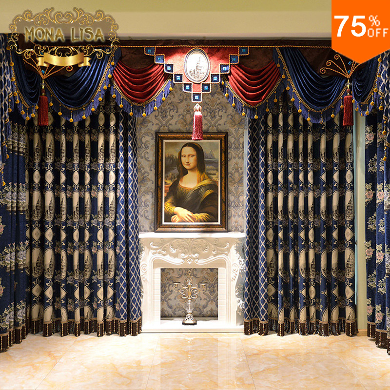 buy ultimate luxury curtains italy classic designer 39 s living room royal blue. Black Bedroom Furniture Sets. Home Design Ideas