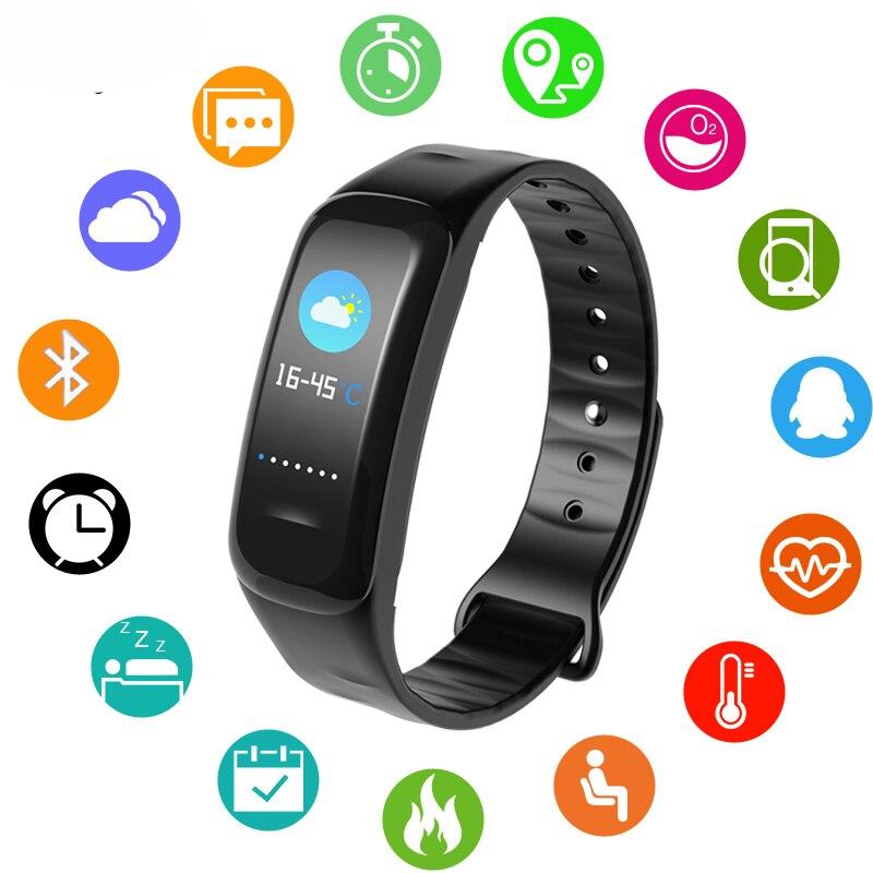 BANGWEI Men Women Sport Smart Bracelet LED Color Screen Watch Clock Heart Rate Blood Pressure oxygen Sleep Monitor Pedometer