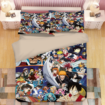 3pcs/set Anime One Piece 3D Printed luxury Bedding Sets With Pillow Cases Duvet Cover for single full Twin queen king bedclothes