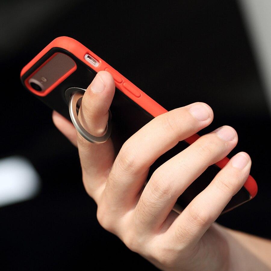 Rock for iPhone 7 plus ujj Gyűrűtartó tok TPU + PC hátsó - Mobiltelefon alkatrész és tartozékok