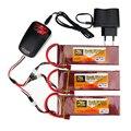 3 шт. ZOP power 7,4 в 5000 мАч 40C 2 S 1 P Lipo батарея T Plug с зарядным устройством Набор для RC гоночный Дрон Квадрокоптер вертолет автомобиль Лодка