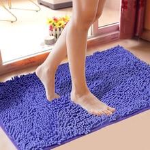 Высокий уровень синель Нескользящие большие коврики для ванной комнаты 15 однотонные коврики для ванной комнаты ковер для ванной комнаты 1 шт. коврики и ковры для ванной комнаты