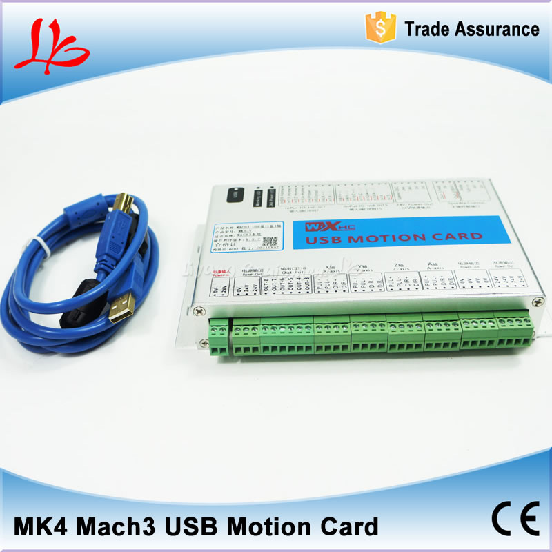 4 axis USB mach3 motion control card four axis breakout interface board for cnc engraving machine cnc milling machine ethernet mach3 interface board 6 axis control
