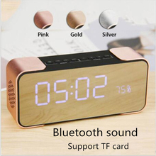 Fuy Bill Bluetooth Speaker PTH-305 Wireless Stereo Music Sound Box Support FM Radio Line in TF Time/Alarm Clock altavoz Speakers