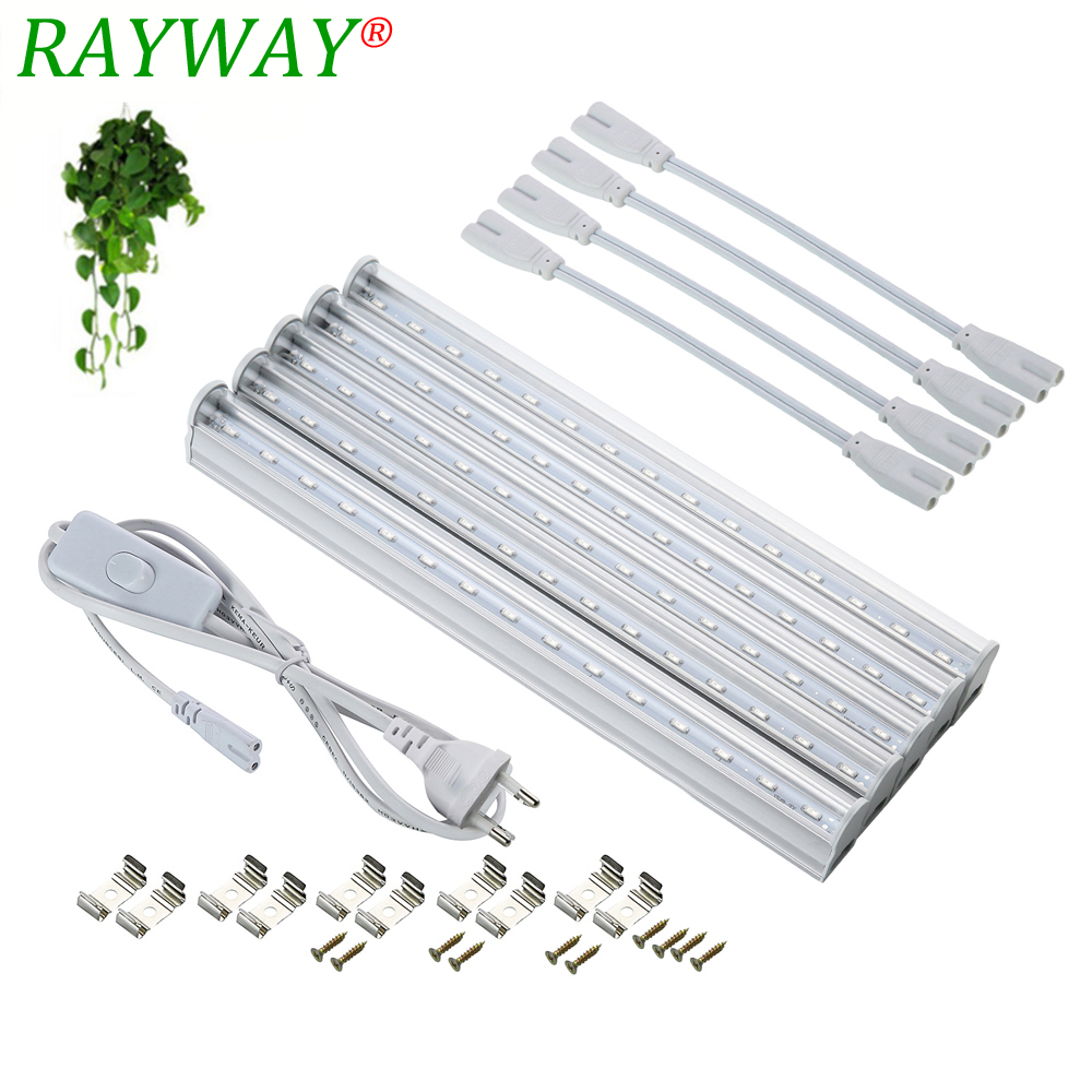цены на RAYWAY Led Grow Light Full Spectrum T5 Tube LED Indoor Plant Lamp Hydroponic system Greenhouse LED grow tent Lamps for plants