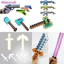 4e2f8cb0e02 1 piezas armas de Minecraft juguetes Minecraft Foam diamante espada Pick  Axe pala arma EVA figura